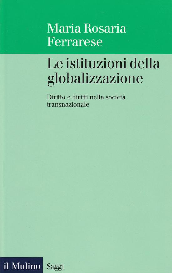 Copertina del libro Le istituzioni della globalizzazione